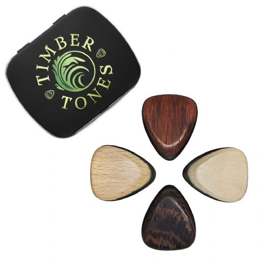 Tri Tones Mixed Tin of 4 Guitar Picks